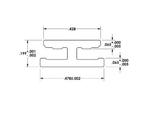 Die 554 Miniature Extrusion