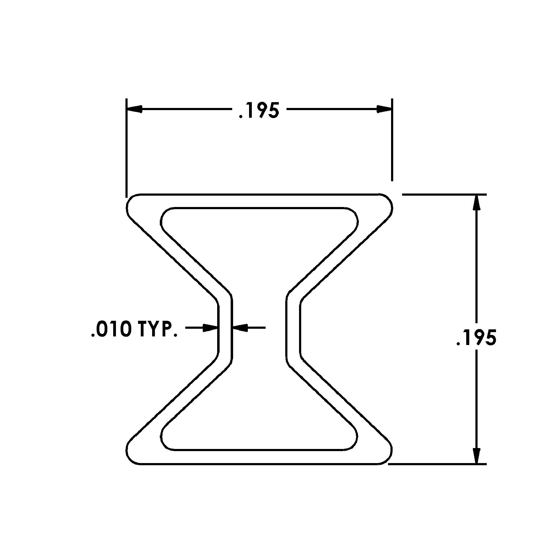 Extruded Aluminum Bow Tie Die 1786