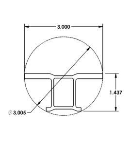 Miniature Aluminum Extrusion Die 2250