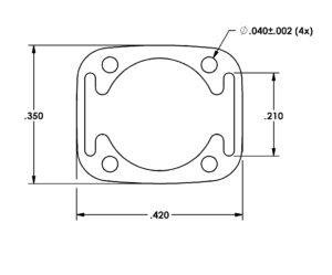 Miniature Aluminum Extrusion Die 2810